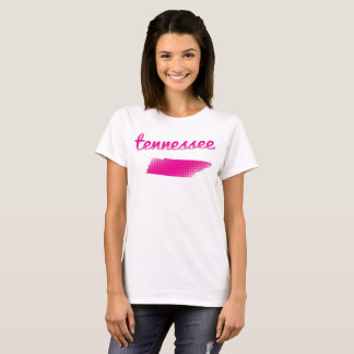Tennessee state in pink T-Shirt