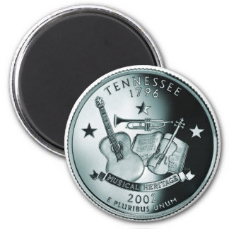 Tennessee state quarter 6 cm round magnet