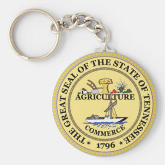 Tennessee State Seal Basic Round Button Key Ring