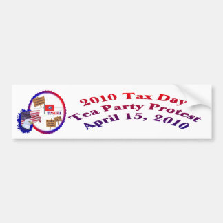 Tennessee Tax Day Tea Party Protest Bumper Sticker