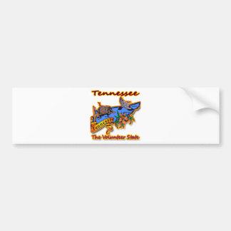 Tennessee The Volunteer State Racoon Flower Bird B Car Bumper Sticker