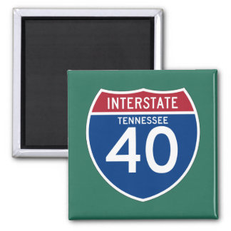Tennessee TN I-40 Interstate Highway Shield - Square Magnet