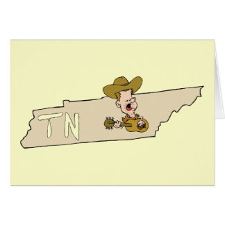 Tennessee TN State Map & Nashville Music Card