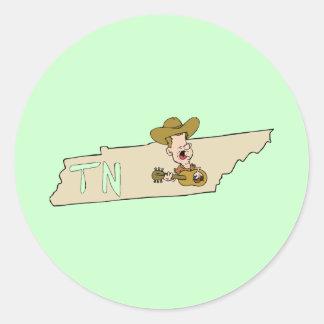 Tennessee TN State Map & Nashville Music Sticker