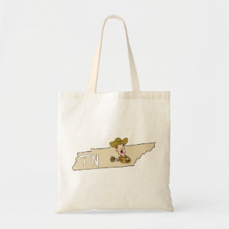Tennessee TN State Map & Nashville Music Tote Bag