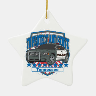 Tennessee To Protect and Serve Police Squad Car Ornaments