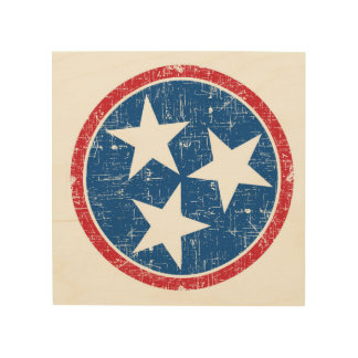 Tennessee Tri Star Wood Wall Decor