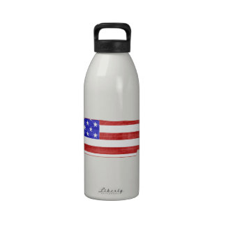 Tennessee USA flag silhouette state map Reusable Water Bottles