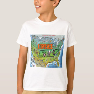 Tennessee USA Map T-Shirt