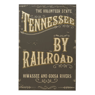 Tennessee USA vintage Railroad poster