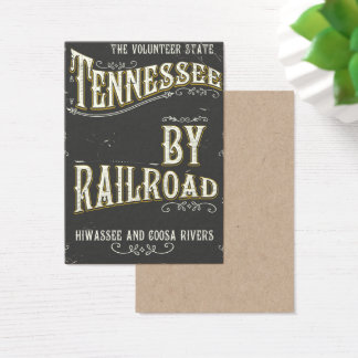 Tennessee USA vintage Railroad poster Business Card