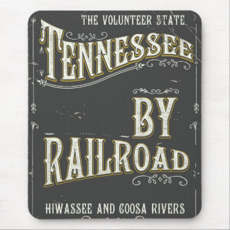 Tennessee USA vintage Railroad poster Mouse Pad