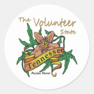 Tennessee Volunteer State Passion 2 Round Sticker