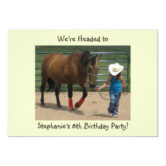 Tennessee Walking Horse and Girl - Party 13 Cm X 18 Cm Invitation Card