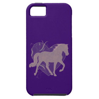 Tennessee Walking Horse Heart Grungy Mauve iPhone 5 Cases