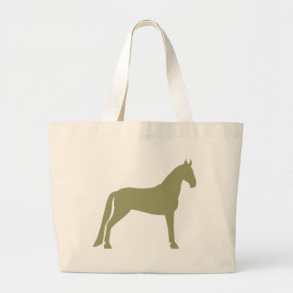 Tennessee Walking Horse (olive green) Large Tote Bag