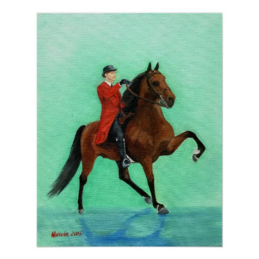 Tennessee Walking Horse Portrait Poster