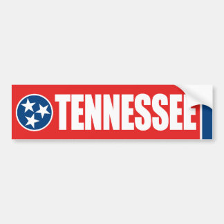 Tennessee with State Flag Bumper Sticker