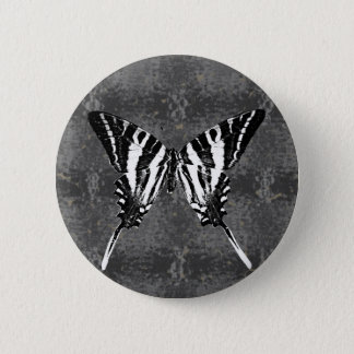 Tennessee Zebra Swallowtail Butterfly 6 Cm Round Badge