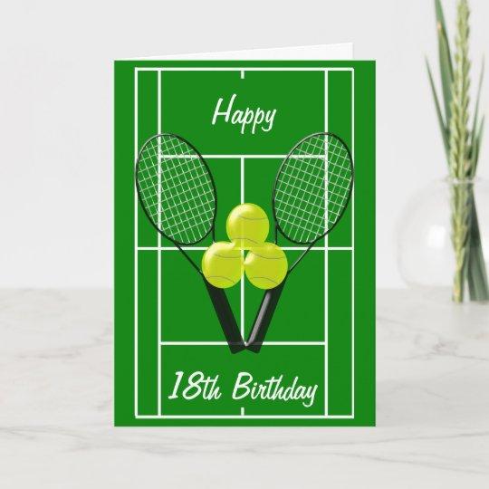 37802a535a3 Tennis 18th Birthday Card
