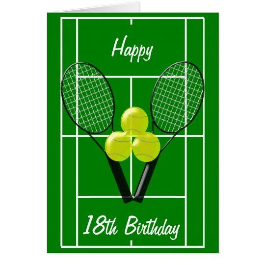Tennis 18th Birthday Card