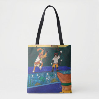 Tennis 2 V 1 Cats Tote Bag