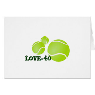 Tennis 40th Birthday Invite Greeting Card