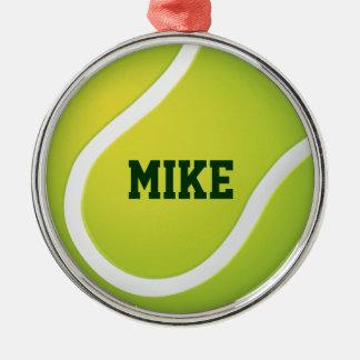 Tennis | Add Name Christmas Ornament