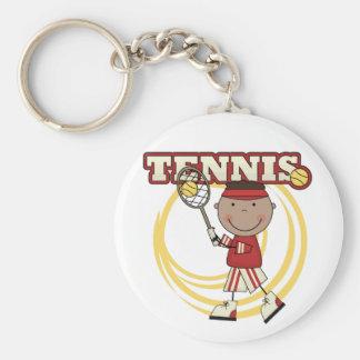 TENNIS - African American Boy Keychains