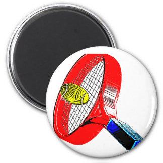 TENNIS ANYONE 6 CM ROUND MAGNET
