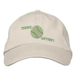 Tennis Anyone Embroidered Hat
