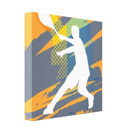 Tennis art canvas print design for home or club