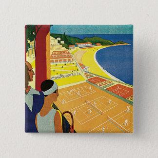 Tennis at Monte Carlo 15 Cm Square Badge