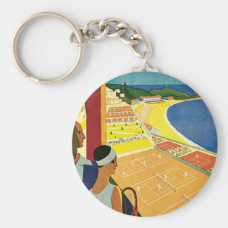 Tennis at Monte Carlo Key Ring