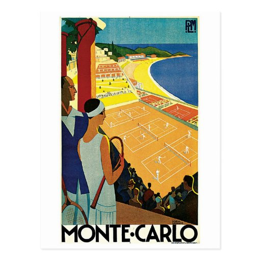 Tennis at Monte Carlo Post Cards
