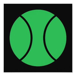 tennis ball 13 cm x 13 cm square invitation card