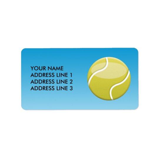 Tennis Ball Address Label