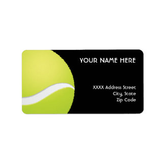 Tennis Ball Address Labels