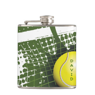 Tennis Ball and Net Design Flask