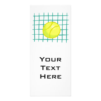 tennis ball and net simple graphic customized rack card