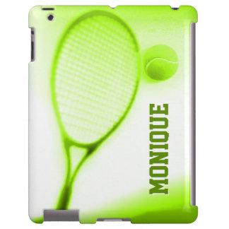 Tennis ball and racket sports green ipadcase iPad case