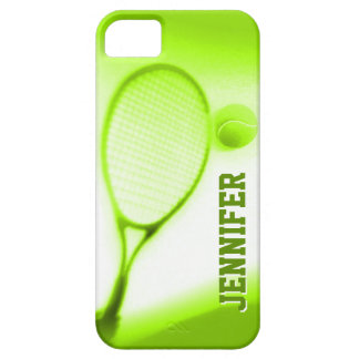 Tennis ball and racket sports green iphone 5 case