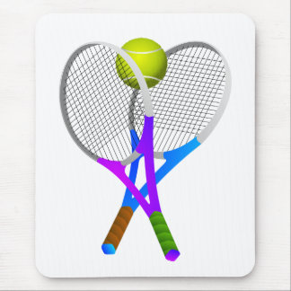 Tennis Ball and Rackets Mouse Pad