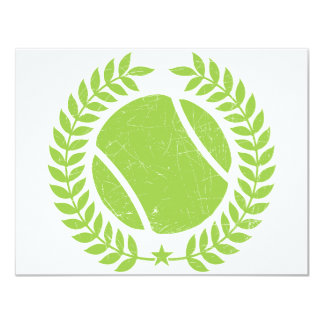 Tennis Ball and tennis Team Vintage design Card