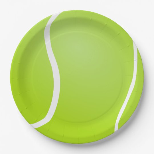 Tennis Ball background Paper Plate