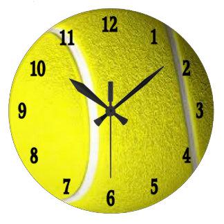 Tennis Ball Black Numbers Sport Wall Clock