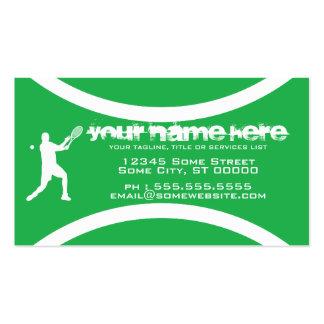 tennis ball business card template