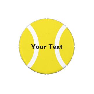 Tennis ball candy tin | Tournament giveaway gift.
