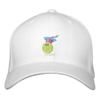 Tennis ball character embroidered hat