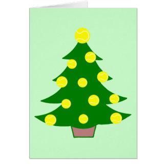 Tennis Ball Christmas Tree Card